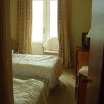 Blick von der Tür ins Twin-Bed-Zimmer