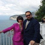 La splendida terrazza dell'Hotel Riviera, dove ammirare la penisola sorrentina