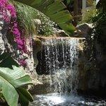 Waterfall by upper pool