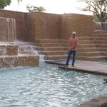 The waterfalls on the Tower Grounds