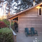 Our little cabin. Elk Cove Inn. Loved it.
