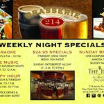 Check out our Weekly Night Specials