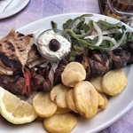 Looked great, lamb over cooked and tough. Tzatziki dip was just laced with garlic.