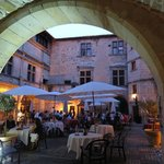 Evening dining in the courtyard