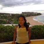 At the sheraton hotel in Maui! Gorgeous view in the background ! ��