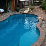 Pool behind Island Hideaway at 165 Anchorage Street
