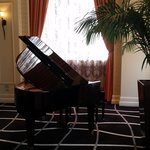 Piano at front desk