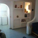 offene Küche und Eingangsbereich