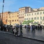 View of Piazza Navona from our table
