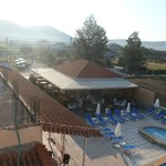 View from balcony of Nikos Place - snack bar area