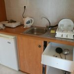 kitchenette facilities in the room (302)