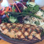 Grilled trout entree
