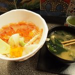 Chirasi & Miso soup♡