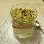 panne cotta with pistachio mousse
