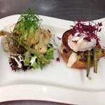 Duo of vegetarian dishes