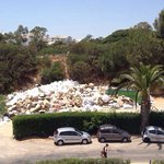 The view of the rubbish from 809