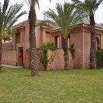 Entrada do pavilhão no Amanjena-Marrakech