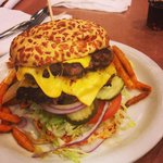 Burger from Denny's - Amazing! Short Walk from MGM