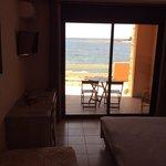 chambre rdc avec terrasse avec vue sur mer