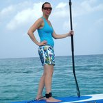 SUPing on the clear waters in Cozumel!