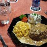 Day 1 Filet Mignon, corn and potato