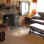 Rustic cabins with fireplace and air conditioning