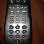 remote with numbers missing