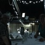 Dinner in the Wheelhouse...blurry but you get the idea