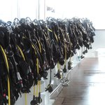 Dive gear ready to go