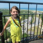 my daughter at the top