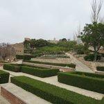 Jardines y fuentes en el interior
