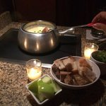 Cheese fondue made right at your table!