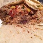 Inside the burrito