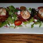 Pickled shrimp and fried green tomatoes - absolutely delicious!!!