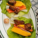 Curried Fried Pork Lettuce Wrap