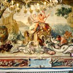 summer section of a tapestry in Palazzo Reale Napoli