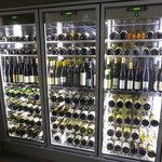 Nice wine selection.