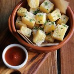 Polenta Chips with truffled Parmesan