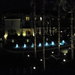 Fish pool at night.