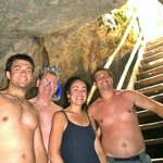Family in the cave