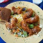 Sesame Buffalo Chicken Salad