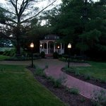 The gazebo is lovely at sunset