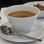 Breakfast coffee served in Azure Lounge.