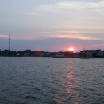 Sunset over the Manteo waterfront.