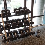 Free weights in Fitness Room