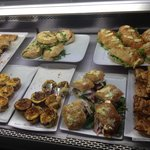 Amazing selection of fresh tarts, quiches and sandwiches