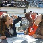 Eating Herring in Volendam