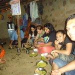 eating in villager homes
