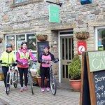Cyclists use St John's Chapel as a Fuel Stop on the Coast to Coast (C2C)