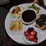 dessert from room service